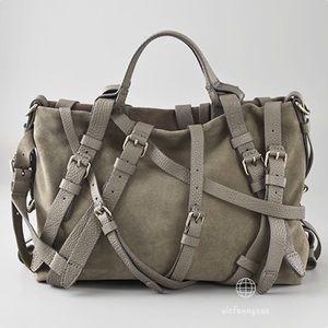 Alexander Wang Kirsten strappy suede satchel bag